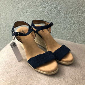 NWT SONOMA Goods Anet Suede Espadrille Sandals 7